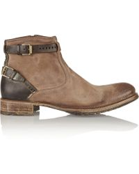 NDC Dominator Distressed-Leather Ankle Boots - Lyst