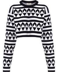 Edun Monochrome Jacquard Arrow Jumper - Lyst