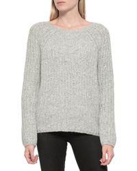 Nili Lotan Ballet Neck Sweater gray - Lyst
