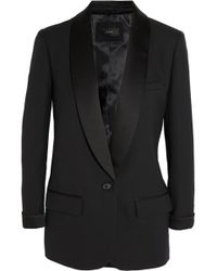 J.Crew - Collection Satin-Trimmed Wool-Piqué Tuxedo Blazer - Lyst