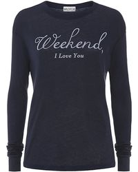 Wildfox Weekend I Love You Long Sleeve T-shirt - Lyst