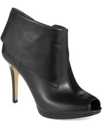 Michael by Michael Kors Kendra Open Toe Booties - Lyst