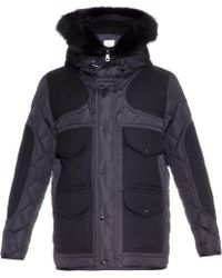 Moncler Gaumont Hooded Quilted-down Jacket blue - Lyst