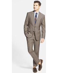 Boss by Hugo Boss Men'S Big & Tall 'Keys/Shaft' Trim Fit Wool & Mohair Suit - Lyst