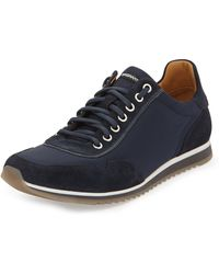 Magnanni For Neiman Marcus Laceup Nylon Sneakers - Lyst