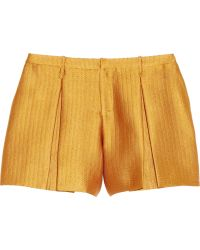 Maiyet - Pleated Handwoven Shorts - Lyst