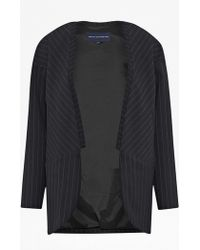 French Connection Giant Pinstriped Coat - Lyst