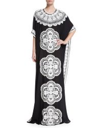 Naeem Khan - Medallion Embroidered Caftan - Lyst