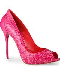Alexander McQueen Munich Peep-Toe Court Shoes - For Women - Lyst