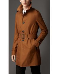 Burberry Gabardine Trench Coat with Wool Warmer - Lyst