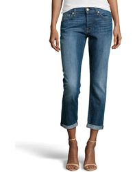 7 For All Mankind Josefina Boyfriend Jeans - Lyst