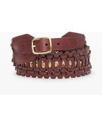 Club Monaco Nolly Leather Belt - Lyst