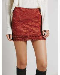 Free People Scandalous Lace Mini - Lyst