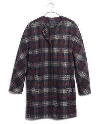 Madewell Plaid Estate Coat - Lyst