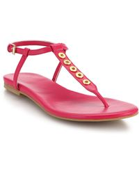 Cole Haan Effie Rivet-Studded Flat Leather Thong Sandals pink - Lyst