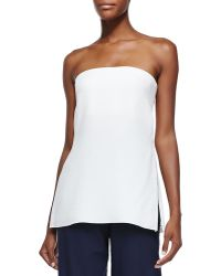 Adam Lippes Strapless Bustier Top W Vented Sides - Lyst