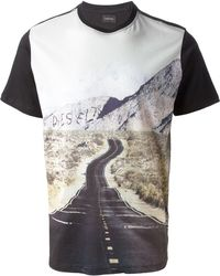 Diesel Photo Print Tshirt - Lyst