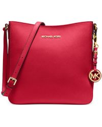 Michael Kors Michael Jet Set Travel Large Saffiano Messenger Bag - Lyst