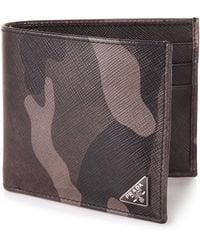 Prada Saffiano Camouflage Billfold Wallet - Lyst