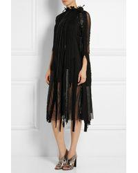 Junya Watanabe Patchwork Georgette Dress - Lyst