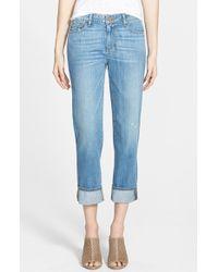 Paige 'Porter' Mid Rise Straight Leg Boyfriend Jeans - Lyst
