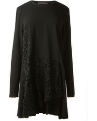 Thakoon Lace Panel Jersey Dress - Lyst