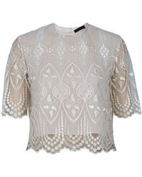 The Row Slevely Lace Top - Lyst