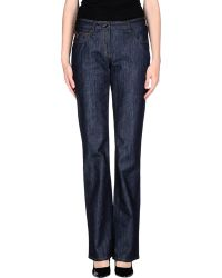 Ferrè Milano - Denim Trousers - Lyst