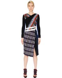 Peter Pilotto Viscose Crepe And Wool Tweed Dress - Lyst