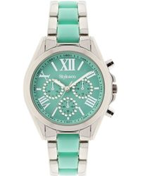 Style & Co. - Women's Chronograph Two-tone Stainless Steel And Plastic Bracelet Watch 40mm Sy005smt, Only At Macy's - Lyst