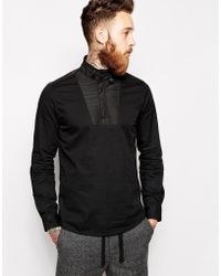 Asos Overshirt in Long Sleeve with Funnel Neck - Lyst