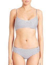 Mikoh Swimwear | Striped Capri Bikini Top | Lyst