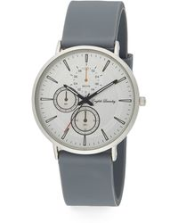 English Laundry - Stainless Steel Interchangeable Silicone & Striped Strap Watch - Lyst