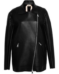 No 21 Clara Leather Jacket - Lyst