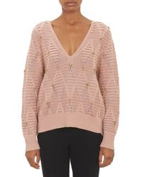 Thakoon Jewelembellished Pullover Sweater - Lyst