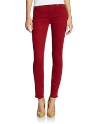 7 For All Mankind Skinny Pants - Lyst