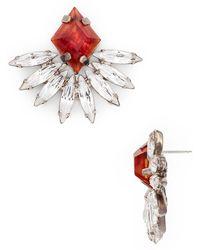 Dannijo Red Fanned Earrings - Lyst