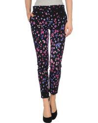 Versace Floral Printed Crepe Trouser - Lyst
