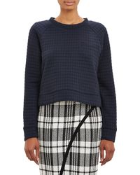 Sea Quilted Cropped Sweatshirt - Lyst