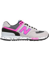 New Balance 574 Suede Mesh Sneakers - Lyst