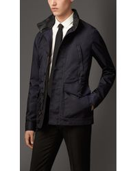 Burberry Showerproof Field Jacket with Leather Detail - Lyst