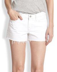 J Brand Low-Rise Cut-Off Denim Shorts - Lyst