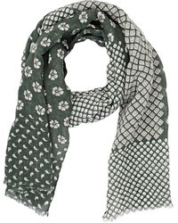 Barneys New York Mixed-Print Scarf - Lyst