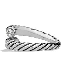 David Yurman Willow Open Singlerow Ring with Diamonds - Lyst