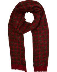 Barneys New York Reversible Wool Scarf - Lyst