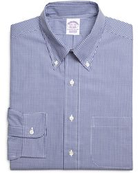 Brooks Brothers Regular Fit Micro Gingham Dress Shirt - Lyst