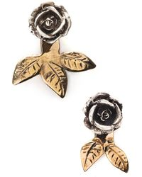 Pamela Love Rose Earrings - Lyst