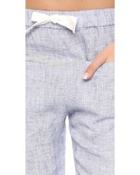 Solid & Striped - The Linen Lounge Trousers - Lyst