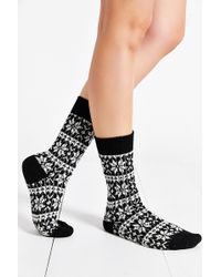 Urban Outfitters Snowflake Cozy Boot Sock - Lyst