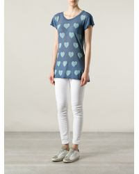 Wildfox White Label - Heart Print Tshirt - Lyst